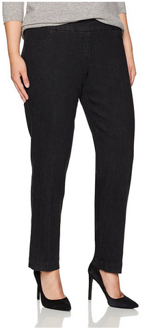 Slim Sation Black Pull-on Relaxed Pant