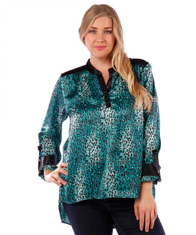 Yummy Plus Ocean Leopard Tunic - SoCal Queen