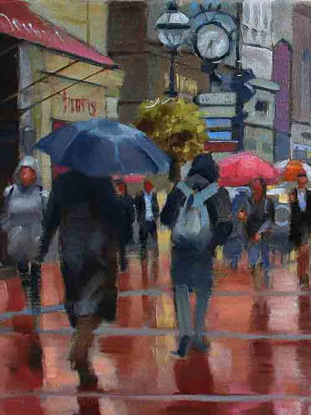 Original oil paintings, Street Scenes