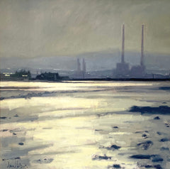 oil painting, Ann Flynn Art, Towards Poolbeg,