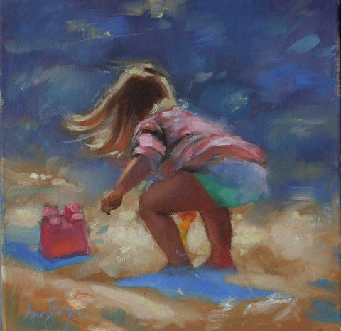 A day at the beach - Ann Flynn Art