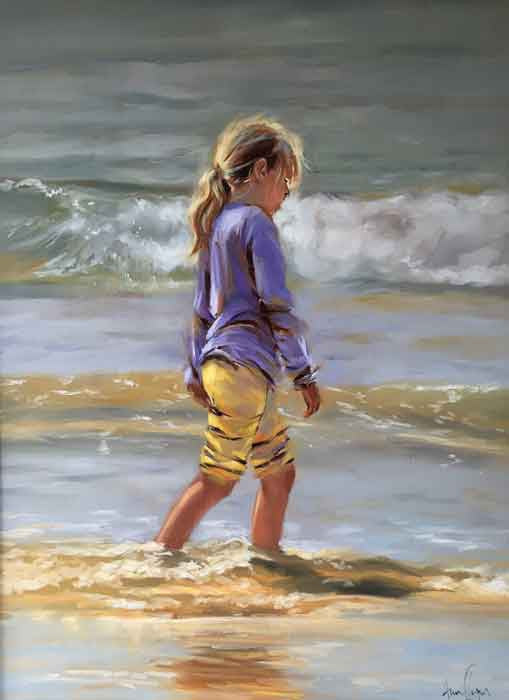 'A Stroll Along The Shoreline' - Ann Flynn Art