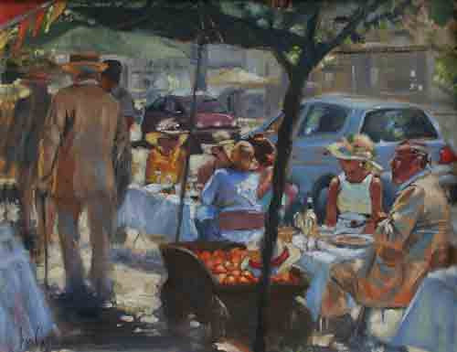 'Al Fresco Lunch, Bloomsday' - Ann Flynn Art