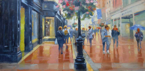 Between showers, Grafton Street. - Ann Flynn Art