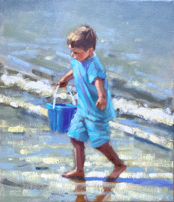 Boy with bucket - Ann Flynn Art