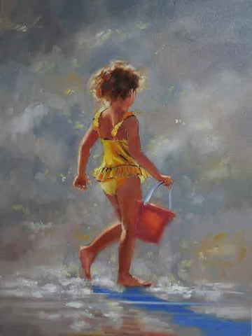 Collecting Shells - Ann Flynn Art