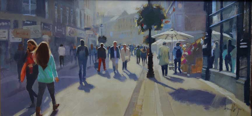 Summer day Grafton St - Ann Flynn Art