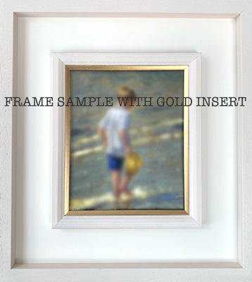 Frame only,  box frame with gold insert 25x30cm - Ann Flynn Art
