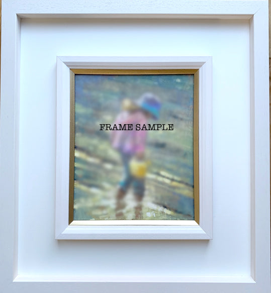 Frame only, 25x30cm box frame with gold insert - Ann Flynn Art