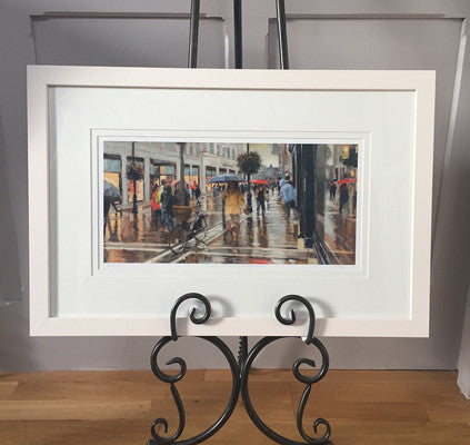 'Evening showers, Grafton street' - Ann Flynn Art