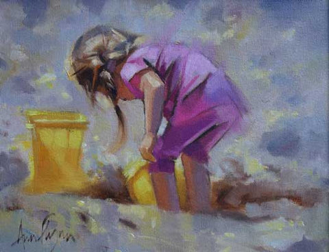 Girl playing - Ann Flynn Art