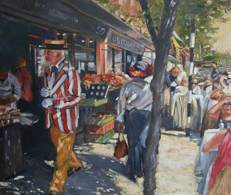 'Hats and stripes, Bloomsday' - Ann Flynn Art