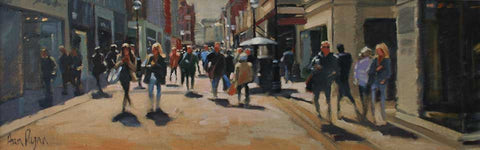 'Shoppers, Grafton street, Dublin' - Ann Flynn Art