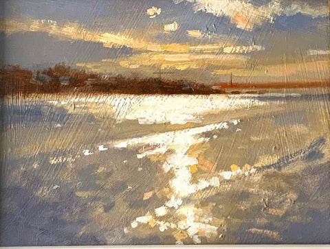 Sandymount strand, evening light - Ann Flynn Art