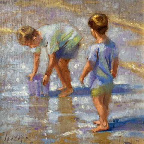 Beach brothers - Ann Flynn Art