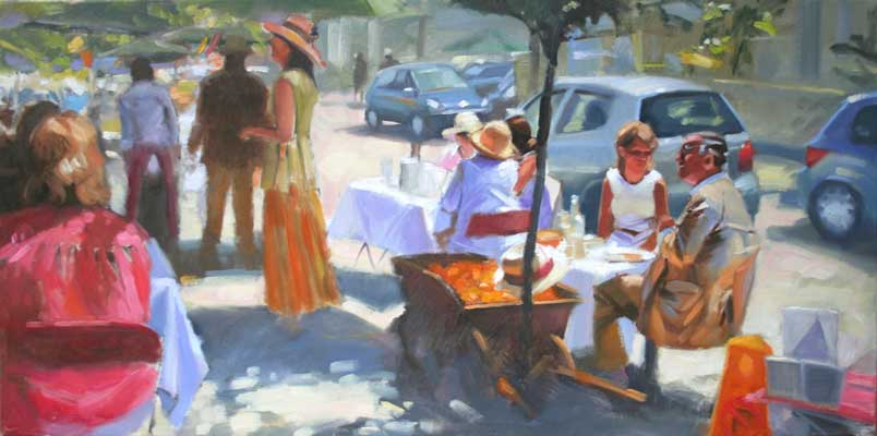 'Lunch at Cavistons' - Ann Flynn Art