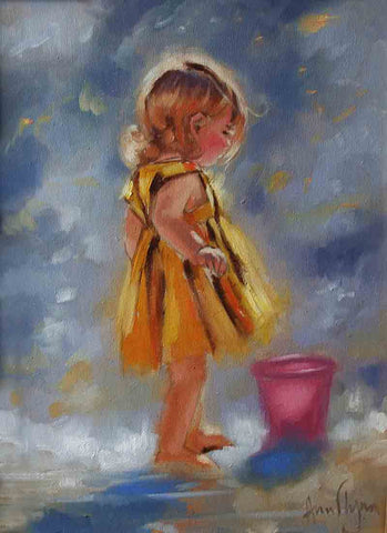 'Pink Bucket' - Ann Flynn Art