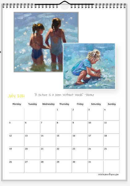 My 2021 calendar with lots of high-quality images to cut out and keep