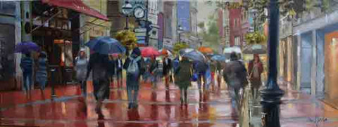 'Showers, Grafton Street, Dublin' - Ann Flynn Art