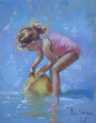 Study of girl playing - Ann Flynn Art