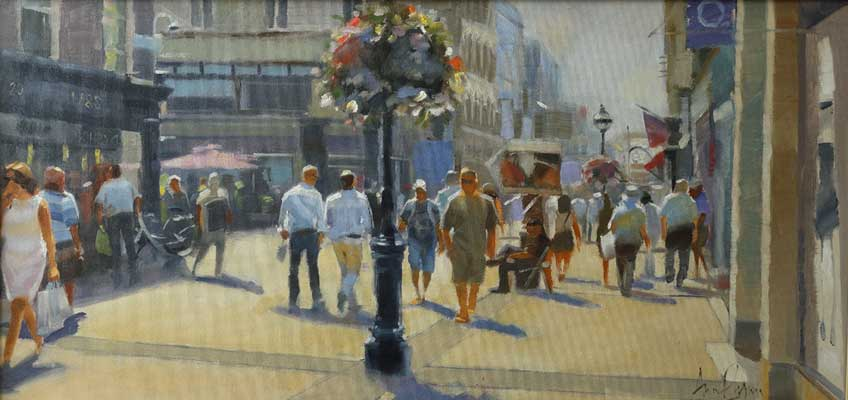 July, Grafton Street, Dublin. - Ann Flynn Art