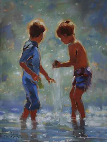 'Two boys playing' - Ann Flynn Art