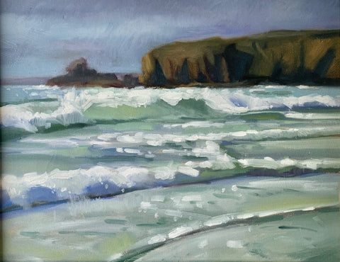 Bonmahon beach, Waterford - Ann Flynn Art
