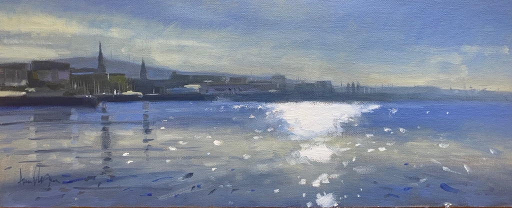 Late afternoon Dunlaoghaire - Ann Flynn Art