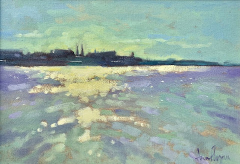 Last light, Scotsman's Bay - Ann Flynn Art