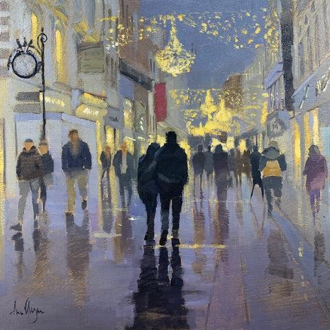 Christmas, Grafton street - Ann Flynn Art