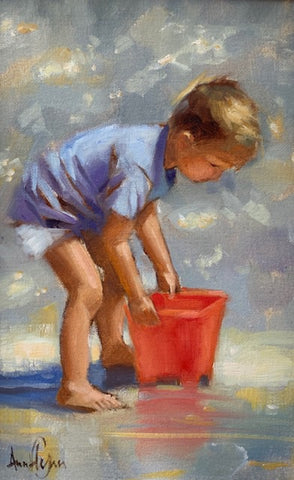 """Red bucket"" - Ann Flynn Art"