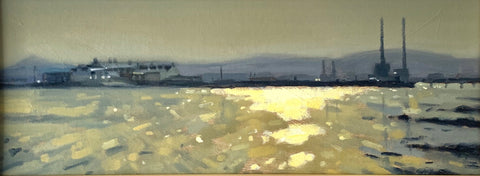 Poolbeg and the wooden bridge Clontarf - Ann Flynn Art