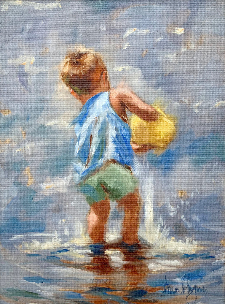 Boy playing - Ann Flynn Art