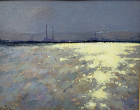 Towards Poolbeg stacks - Ann Flynn Art