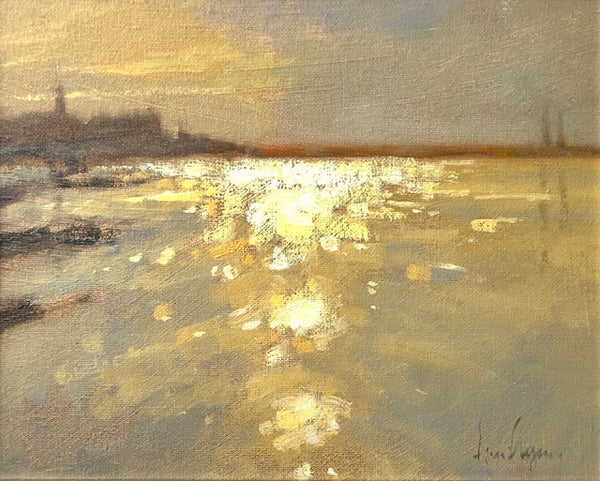 Evening Light, Dunlaoghaire - Ann Flynn Art