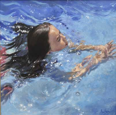 'Swimmer' - Ann Flynn Art