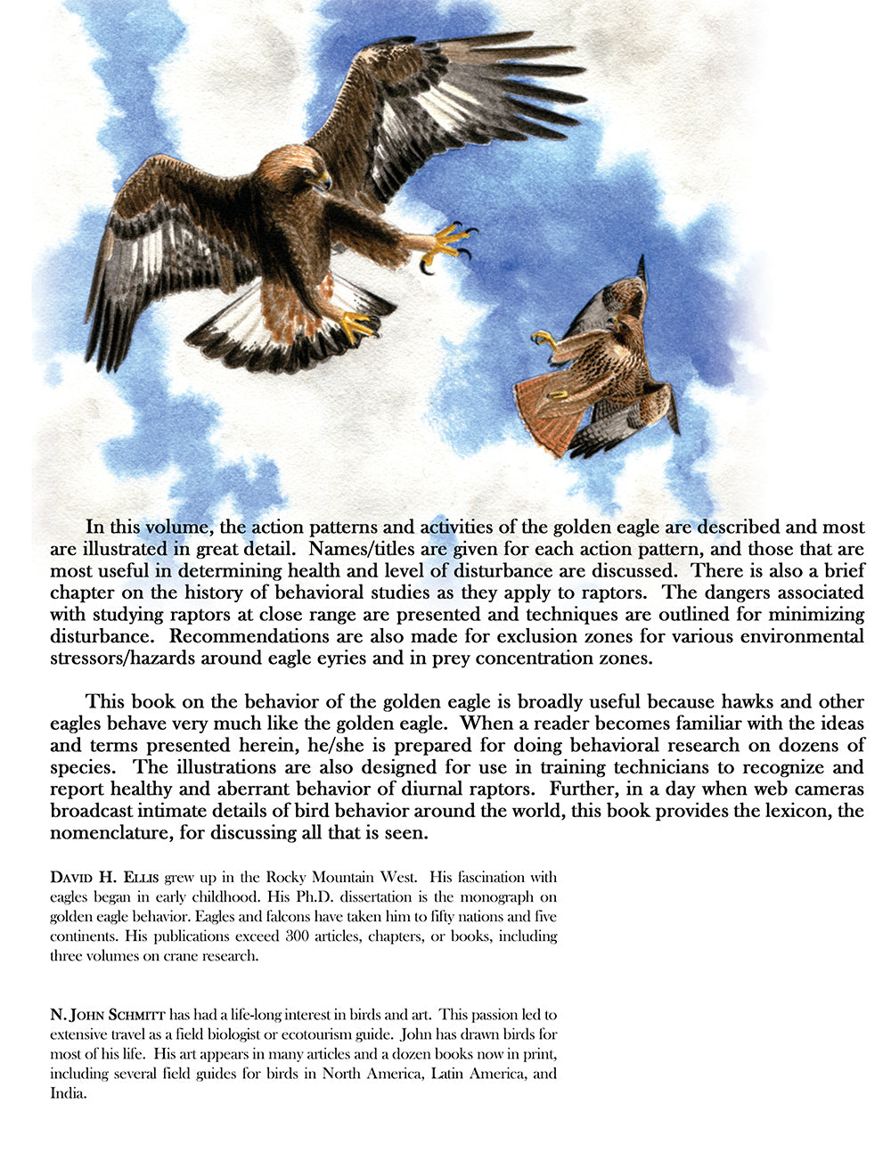 Behavior of the Golden Eagle: an illustrated ethogram