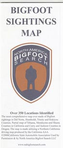 Bigfoot Sightings Map SD