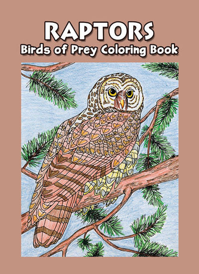 Raptors - Birds of Prey Coloring Book