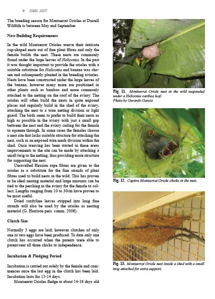 Conservation Through Aviculture ISBBC 2007: proceedings of the IV international symposium on breeding birds in captivity
