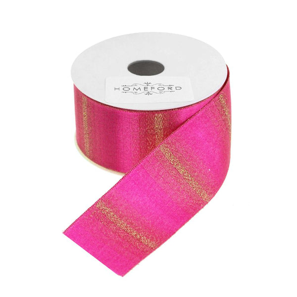 Glitter Sparkling Double Faced Satin Ribbon, Hot Pink, 1-1/2-Inch, 3 Yards