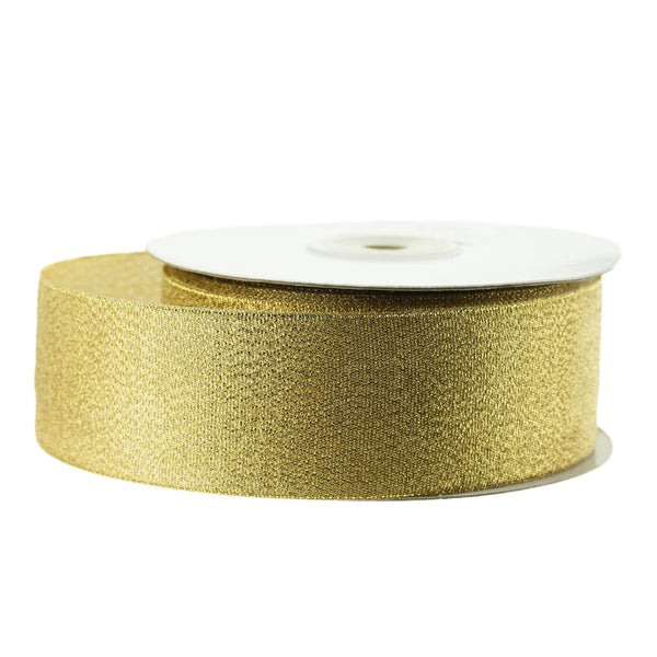 12-Pack, Metallic Taffeta Christmas Ribbon, 1-1/2-inch, 25-yard, Gold