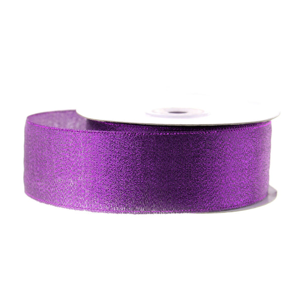 12-Pack, Metallic Taffeta Christmas Ribbon, 1-1/2-inch, 25-yard, Purple