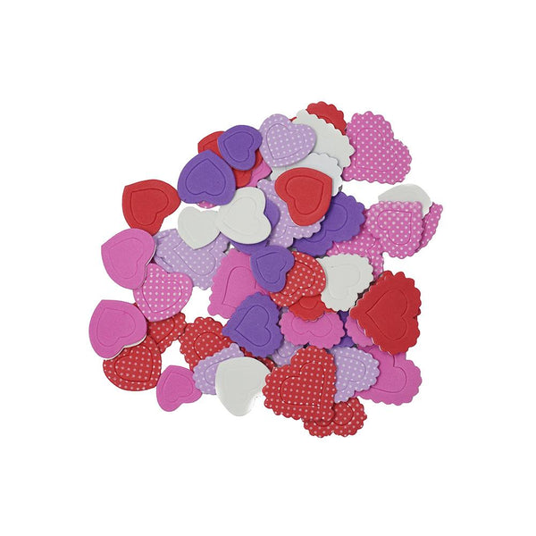 Foam Heart Craft Assortment Stickers, 112-Piece