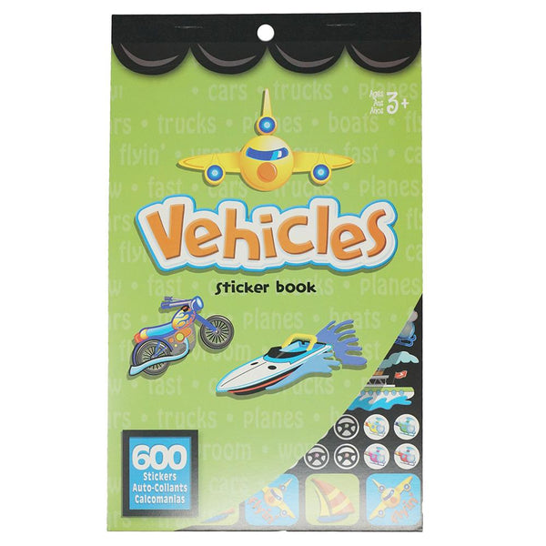 Vehicles Craft Sticker Book Assortment, 600-Piece