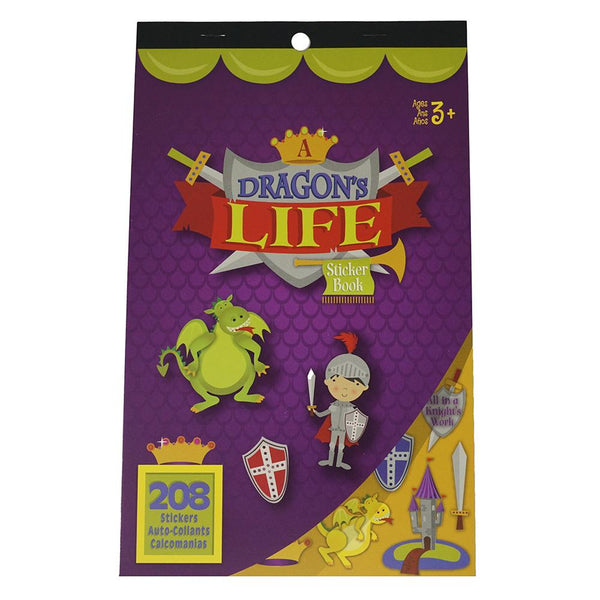 Dragon's Life Craft Sticker Book Assortment, 208-Piece