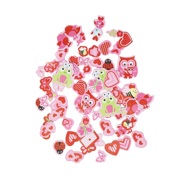 Foam Valentines Gone Sweet Stickers, 74-Piece