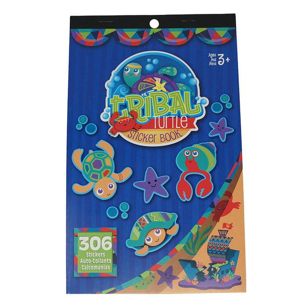 Tribal Turtle Craft Sticker Book Assortment, 306-Piece