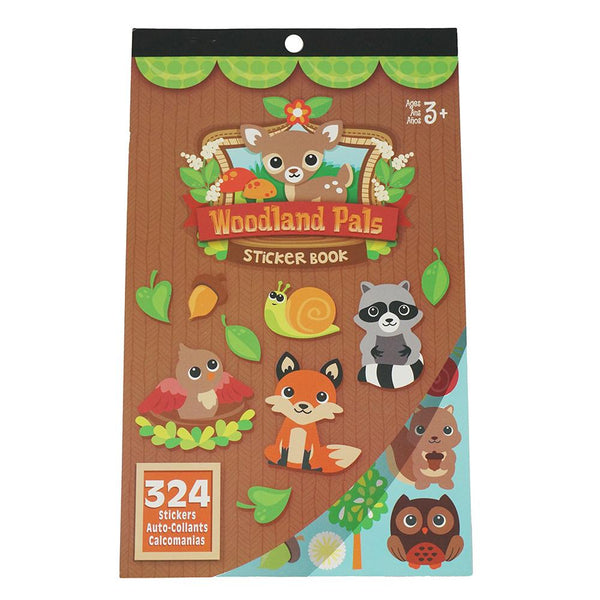 Woodland Critter Pals Craft Sticker Book Assortment, 324-Piece