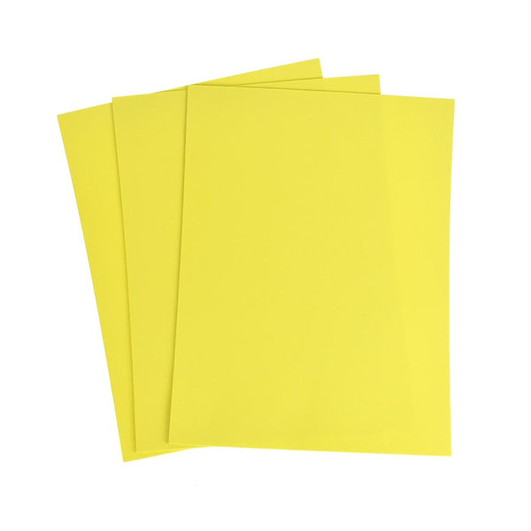 Plain EVA Foam Sheet, 9-Inch x 12-Inch, 3-Piece, Yellow